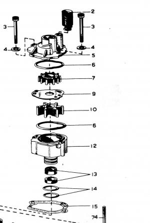 Impeller für 40/45/55/60/70 PS