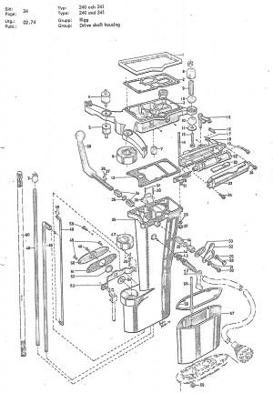 Dichtung für Getriebegehäuse (25PS) Volvo Penta 3554783