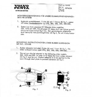 Gummidämpfer-Satz Volvo Penta 3576188