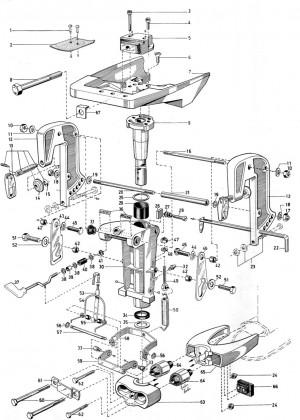 Metallbügel Rücklaufsperre für Motoraufhängung Volvo Penta 3555495