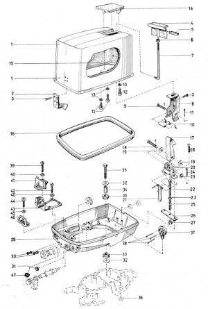 Verriegelungshaken für Motorkappe von Volvo Penta 3554256