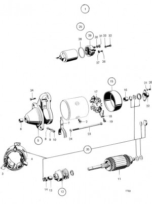Anker für Startmotor / Anlasser Volvo Penta 240731