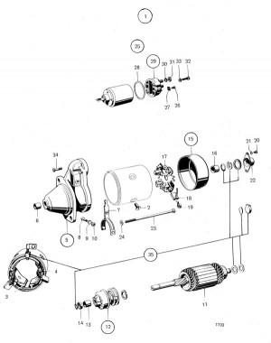 Solenoid/Magnetspule Volvo Penta 241889