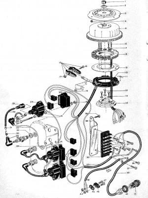 Kabelbaum für Kondensatorblöcke Volvo Penta 3558033