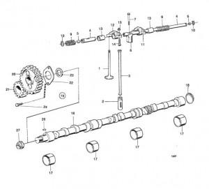 Kipphebelstange / Stößelstange für Ventilmechanismus Volvo Penta 430121