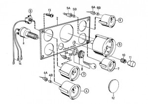 Wippschalter (Zündschloss) für Instrumententafel von Volvo Penta 835652