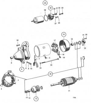 Kohlebürstenhalterplatte Volvo Penta 241886