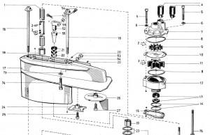 Stangenmutter von Volvo Penta 3555627