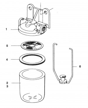 Maschenfilter / Filtereinsatz von Volvo Penta 344440