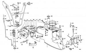 Federbügel / Federhaken für Zwischengehäuse Volvo Penta 814392