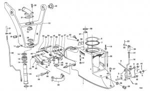 Federbügel / Federhaken für Zwischengehäuse Volvo Penta 814393
