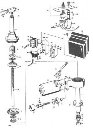 Schalter für mech./elektr. Hebevorrichtung Volvo Penta 897848