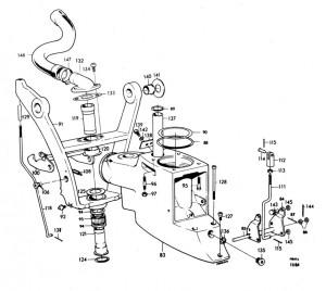 Druckstange für Zwischengehäuse von Volvo Penta 814277