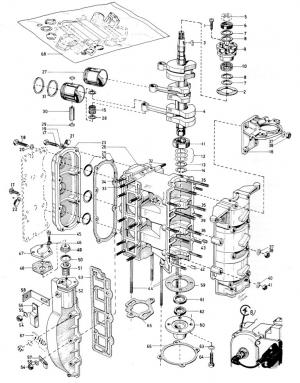 Motorblock 3-Zylinder 60 PS von Volvo Penta 3557625