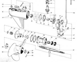 Propellerwelle mit Sicherungsring Volvo Penta 3555656