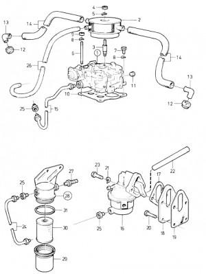 Kraftstofffilter komplett von Volvo Penta 834717