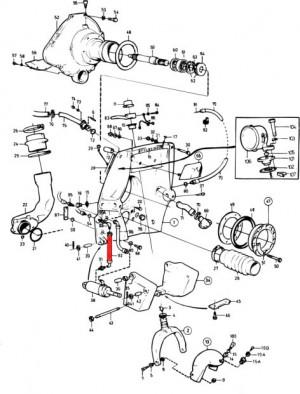 Schlauchkupplung (kurz) für Powertrim von Volvo Penta 850907