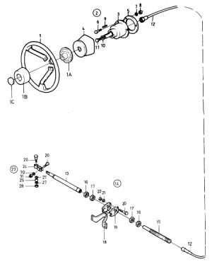 Lenkkabel Roto Pilot 4,50m von Volvo Penta 851024