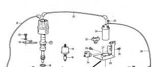Zündkabel (Zündverteiler zur Zündspule) von Volvo Penta 841224
