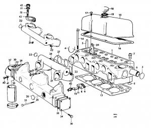 Zylinderkopfdichtung 4 Zyl. von Volvo Penta 418990