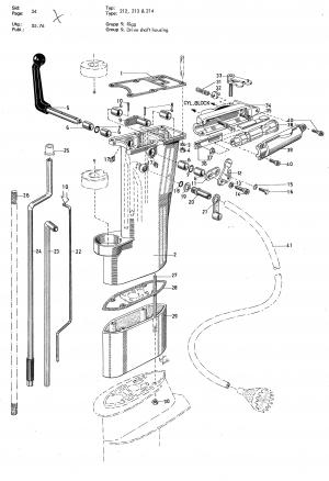 Gehäuseteil für Synchronisierungsrolle Volvo Penta 3554784