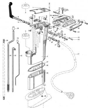 Lenzrohr für Langschaft Volvo Penta 3554808